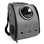 Cat / Dog Carrier & Travel Backpack / Astronaut Capsule Carrier Pet Carrier Portable / Breathable Gray Leather
