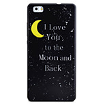 For HUAWEI P8Lite Y5II Y6II Case Cover Moon Pattern Black TPU Material Phone Shell