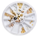 1set Nail Art Decoration Manicure Alloy Ornaments Mermaid Tortoise Shells in Conch