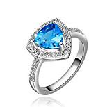 Hot Selling white Gold Plated Sapphire jewelry African Dubai wedding rings for women roxi anel feminino bijoux