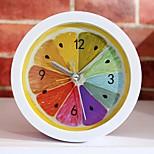 New Style Rural Cool Lemon Fruit Alarm Clock Modern Minimalist Desktop Clocks Lazy Watch Clock