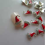 5Pcs  Nail Art Accessories Metal Set Auger Christmas Hats