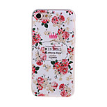 Peony Pattern 3D Stereo Relief Diamond Scrub TPU Material Phone Case For iPhone7 7 Plus