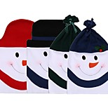 1Pcs Cute Snowman Pattern Chair Cover No Woven Christmas Dinner Party Chair Covers Set Christmas Decoration Supplies