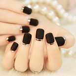 24Pcs High-end French Manicure Stick Grind Arenaceous Metal Texture Edge Fashionable And Beautiful 1Set