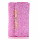 The New Solid Color Dual-use Chain Handmade PU  Flashing Material Phone Leather Phone Case for iPhone iPhone 7 7plus 6S 6plus