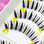 Eyelashes lash Full Strip Lashes Eyes Thick Volumized Handmade Fiber Transparent Band 0.10mm 12mm