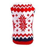 Cat / Dog Sweater / Hoodie Red Dog Clothes Winter / Spring/Fall Snowflake Christmas / New Year's