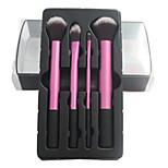 4 Makeup Brushes Set Nylon Professional / Portable Wood Face / Eye