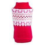 Cat Dog Sweater Dog Clothes Winter Spring/Fall Color Block Casual/Daily Christmas New Year's Red