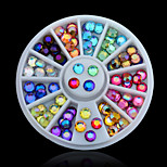 12 Colour Nail Art Decoration Color Diamond Dome