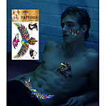 Fluorescent Color Waterproof Tattoo Stickers Animal Series Fit Everyone in Halloween Party Pub