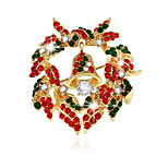 Women's Brooches Chrismas Golden Jewelry Daily Casual