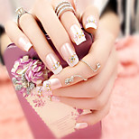 24Pcs Romantic French Beauty Nails And Fashionable Elegant 1 Set