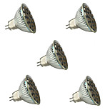 3W GU5.3(MR16) Focos LED MR16 27 SMD 5050 300 lm Blanco Cálido / Blanco Fresco Regulable / Decorativa V 5 piezas