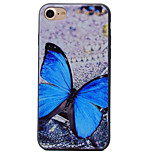 Butterfly Pattern Black TPU Material Soft Phone Case for iPhone 7 Plus 7 6S 6Plus 5 SE