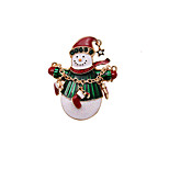 Women's Brooches Chrismas Fashion White Jewelry Daily Casual Christmas Gifts