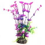 Aquarium Dekoration Blume Plastik Purpur