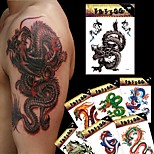 8 Tattoo Stickers Animal Series / Totem Series / Others / Cartoon Series Non Toxic / Pattern / Large Size / Lower Back / Waterproof / 3-D