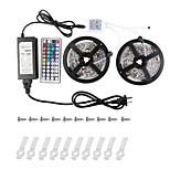 KWB 2*5M-5050-150-RGB-IP44 44K2key IR Controller 6APower Supply LED Strip Lights Kit Non-waterproof