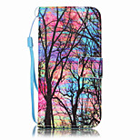 For iPhone 7Plus 7 6s Plus 6Plus 6S 6 SE 5s 5 PU Leather Material Color Tree Embossed Protective Cover