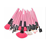 24 Makeup Brushes Set Horse Portable Wood Face G.R.C / Send Package