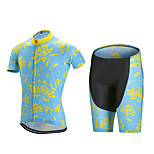 Sports Cycling Jersey with Shorts Men's Short Sleeve BikeBreathable / Quick Dry / Anatomic Design  / Back Pocket / 3D Pad /