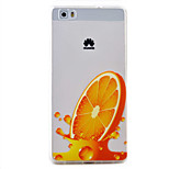 Orange Pattern TPU Protection Material Phone Case for Huawei Huawei Y5 II Honor 5A Y6 II P9 Lite P8 Lite