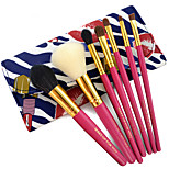 7 Set di pennelli Capelli sintetici Professionale / Portatile Legno Viso / Occhi / Labbro Altro