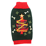 Christmas Tree Dog Clothes Bone Star Festival Dog Sweaters for Pets