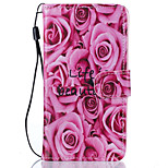 Roses Flower Pattern PU Leather Full Body Case with Stand for Lenovo Vibe K5