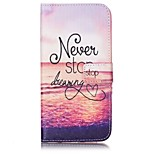 Sunset Pattern Card Holder PU Leather case For iPhone 7 7 Plus
