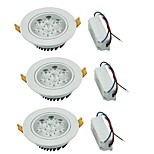 YouOKLight 3PCS 7W 7xLEDs Epistar  600lm Warm White/ White LED Ceiling Lamp (AC 100-240V)