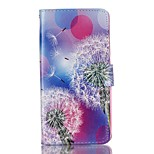 Full Body Card Holder / Wallet / Flip / Pattern Dandelion PU Leather Hard Case Cover For Lenovo Lenovo A6000