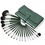 20 Makeup Brushes Set Goat Hair Professional / Portable Wood Face/Eye / Lip Green