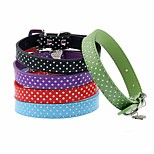 Cat / Dog Collar Reflective / Adjustable/Retractable / Cosplay / Running / Hands free / Casual Polka Dots / RhinestoneRed / Black / Green