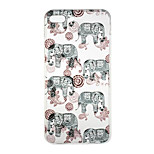 For iPhone 7 Case / iPhone 7 Plus Case / iPhone 6 Case Pattern Case Back Cover Case Elephant Soft TPU AppleiPhone 7 Plus / iPhone 7 /