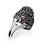Eagle Biker Ring For Men Gift Various Styles Silver Plated High Quality 316L Stainless Steel Punk Ring With Zircon