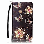 For Sony Case Card Holder / Wallet / with Stand / Pattern Case Full Body Case Flower Hard PU Leather for SonySony Xperia XA / Sony Xperia