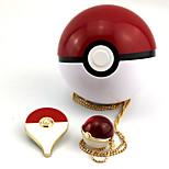 Little Pocket Monster Pikachu Alloy Artificial Gemstones Fairy Ball Crystal Necklace