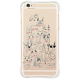 Für iPhone 6 Hülle / iPhone 6 Plus Hülle / iPhone 5 Hülle Stoßresistent / Transparent / Muster Hülle Rückseitenabdeckung Hülle Katze Weich