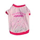 Katzen Hunde T-shirt Rot Rosa Hundekleidung Sommer Frühling/Herbst Buchstabe & Nummer Lässig/Alltäglich