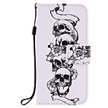 For iPhone 7Plus 7 6s Plus 6Plus 6S 6 SE 5s 5 PU Leather Material Skull and Crossbones Embossed Protective Cover