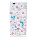 Large Chrysanthemum Pattern Tpu Material Highly Transparent Phone Case For Huawei P9 P9 Plus Y5II Y6II