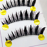 Eyelashes lash Full Strip Lashes Eyes Thick Lifted lashes Handmade Fiber Transparent Band 0.10mm 11mm