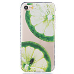 Para Funda iPhone 7 / Funda iPhone 6 / Funda iPhone 5 Transparente / Diseños Funda Cubierta Trasera Funda Fruta Suave TPU AppleiPhone 7