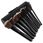 12 Makeup Brushes Set Others Professional / Portable Metal Face / Eye / Lip Black