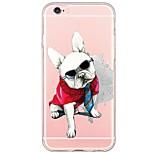 Für iPhone 7 Hülle / iPhone 6 Hülle / iPhone 5 Hülle Ultra dünn / Durchscheinend Hülle Rückseitenabdeckung Hülle Hund Weich TPU Apple