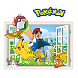 Pokemn Stickers 3D Cartoon Stickers Film Animals BIka Qiu Wall Decals for Kids