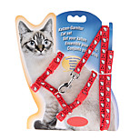 Cat Collar Adjustable/Retractable Solid Red Nylon